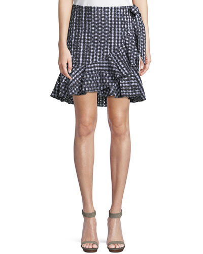 Alice Faux-Wrap Mini Skirt