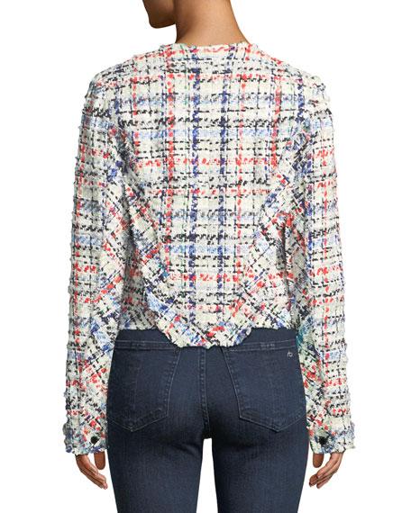 Otis Snap-Front Linton Tweed Jacket