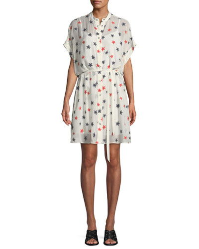 Lary Star-Print Shirtdress