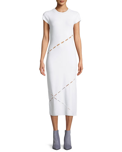 Eden Slashed Midi T-Body Dress