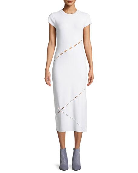 Rag & Bone Eden Slashed Midi T-Body Dress