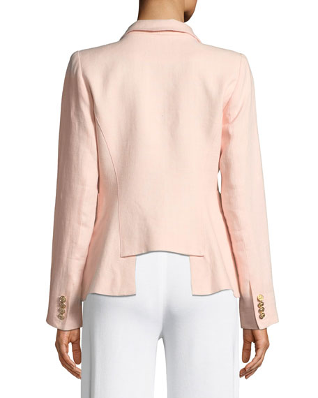 Duchess One-Button Linen Blazer