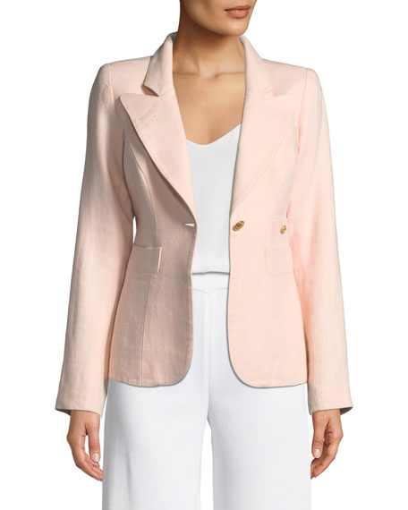 Smythe Duchess One-Button Linen Blazer