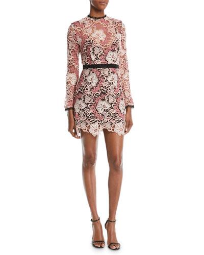 Crave You Floral Applique Mini Dress