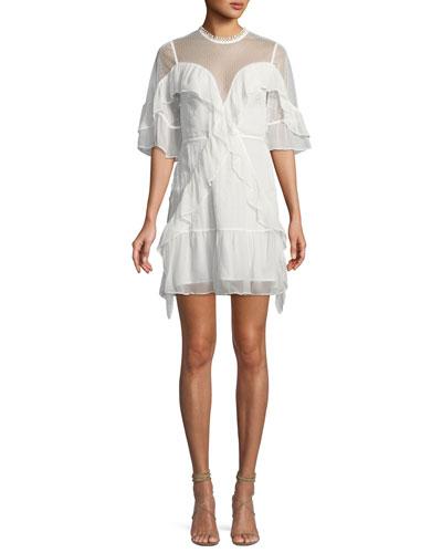 Enchantment Georgette Ruffle Mini Dress