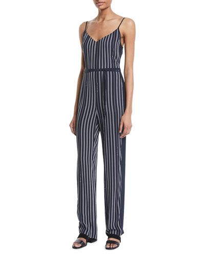 Rosa Striped Straight-Leg Jumpsuit