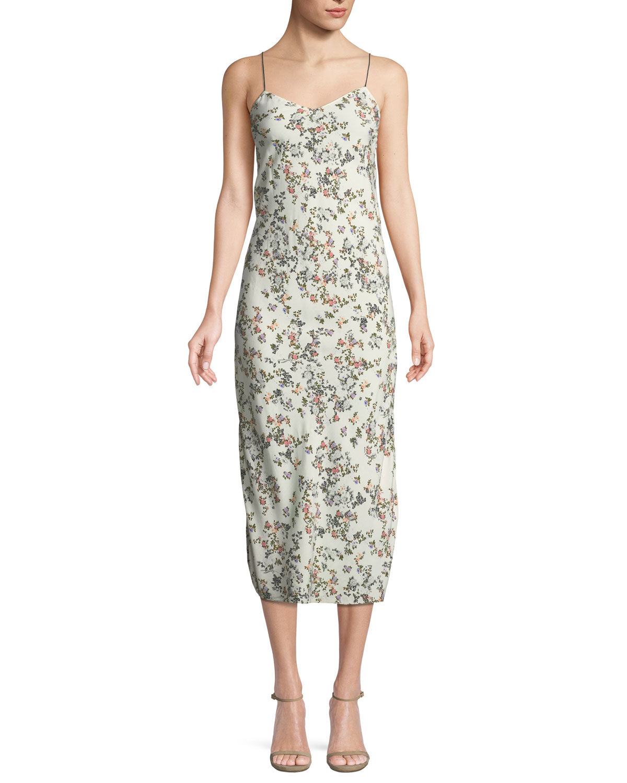Bone Neiman Marcus amp; Viscose Print Floral Slip Astrid Dress Rag ZFqwAaRw
