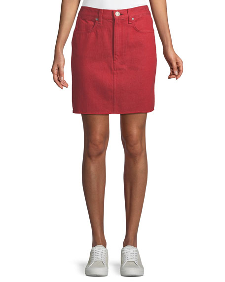 rag & bone/JEAN Moss High-Rise Straight Denim Skirt