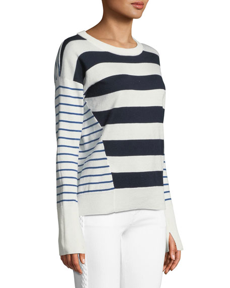 Kaylara Striped Long-Sleeve Sweater