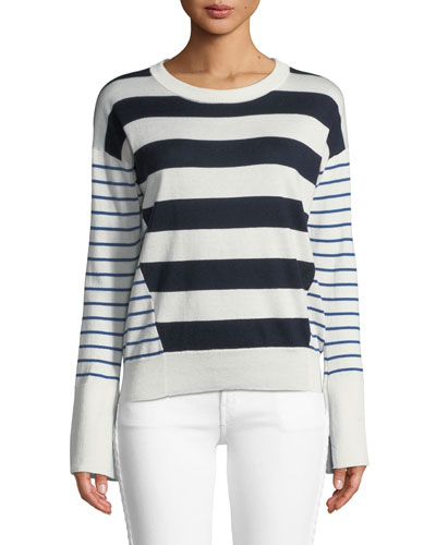 Kaylara Striped Long-Sleeve Sweater