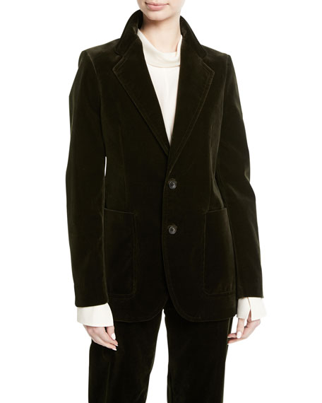Albert Stretch Velvet Blazer Jacket