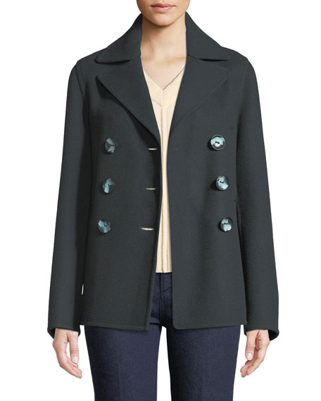 New Hector Short Fitted Pea Coat