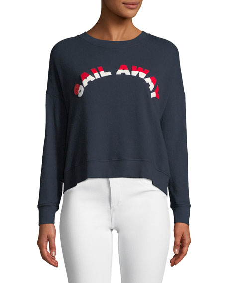"Lenexa ""Sail Away"" Convo Tie-Back Pullover Sweater"
