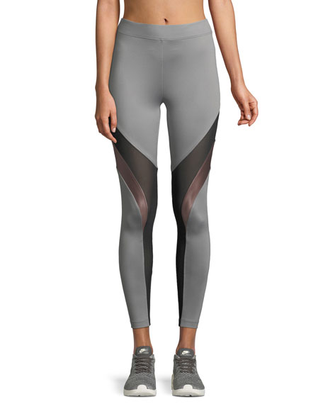 High-Rise Mesh Performance Leggings