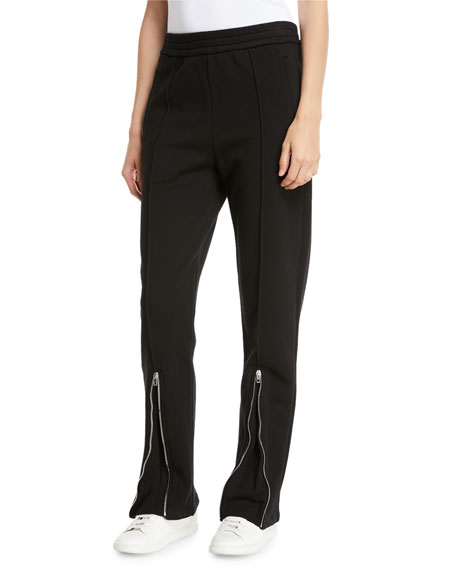 Loopback Zip-Cuff Track Pants