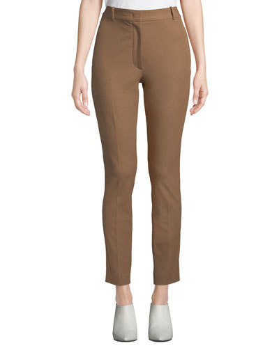 Zoom Gabardine Straight-Leg Trousers