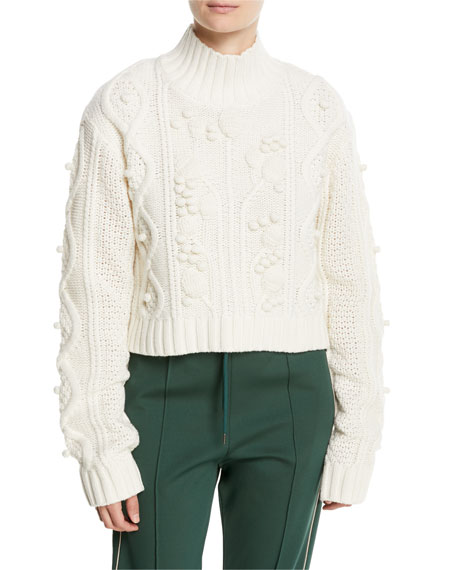 Joseph Wool Cable-Knit Cropped Sweater and Matching Items