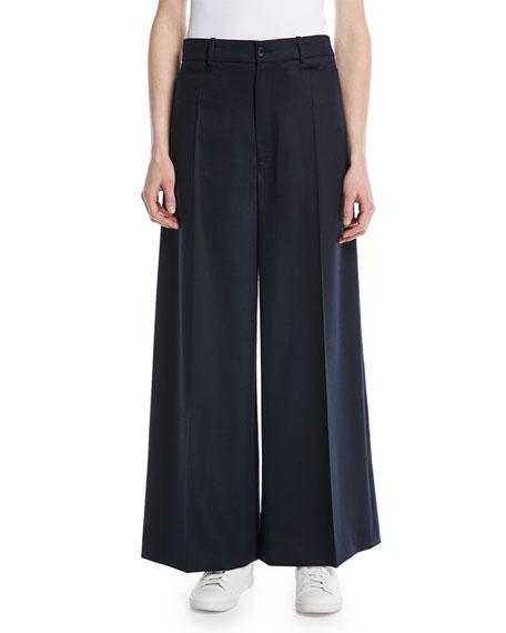 Joseph Dana Wide-Leg Stretch-Flannel Pants