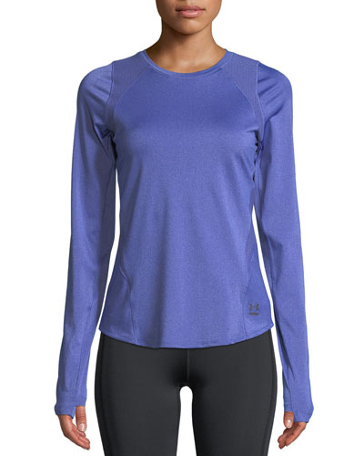 Perpetual Long-Sleeve Cutout-Back Performance Top