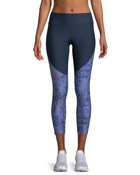 Vanish-Print Cropped High-Rise Leggings