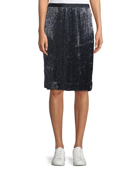Edryce Sequin Knee-Length Skirt