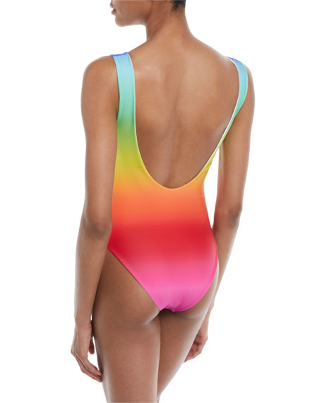 Good Days High-Cut One-Piece Ombre Swimsuit