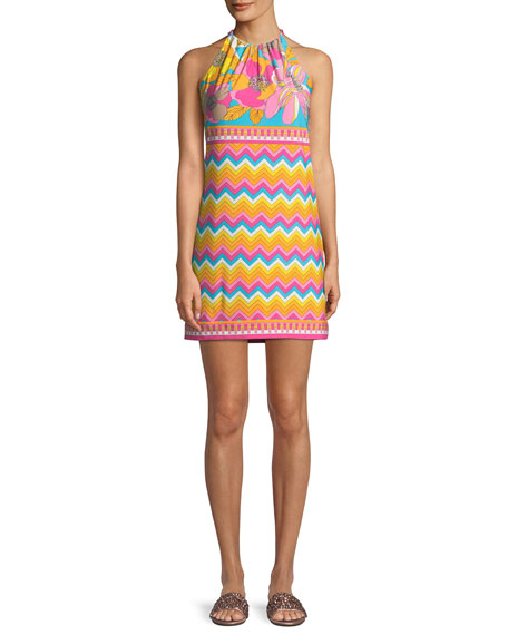 Trina Turk Summertime Bloom Vacaciones Sleeveless Mini Dress