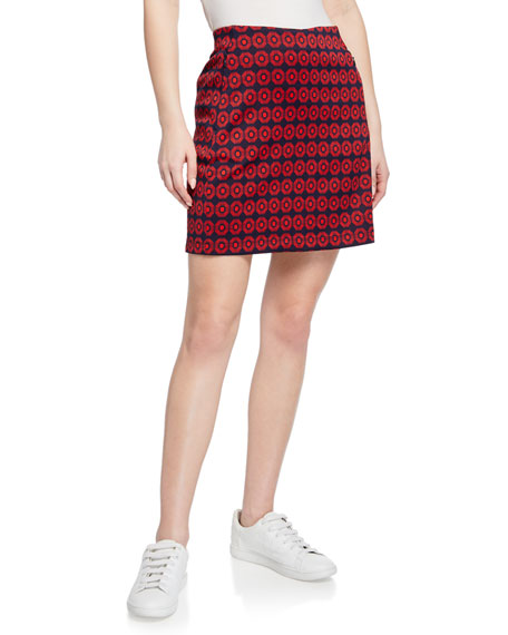 Printed Jacquard Performance Skirt