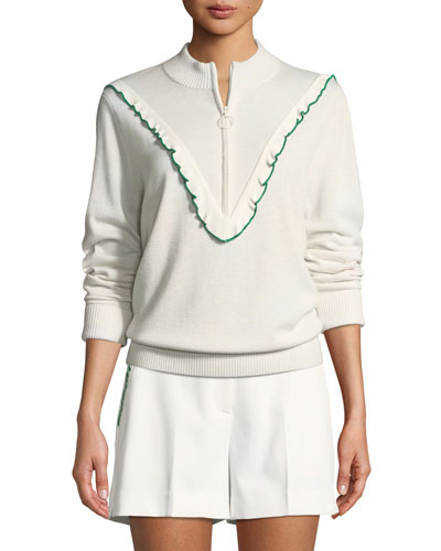 Half-Zip Cashmere/Coolmax Performance Sweater