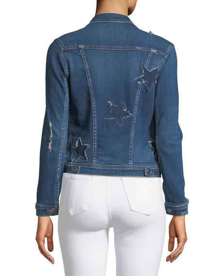 Celine Button-Down Denim Jacket w/ Star Details