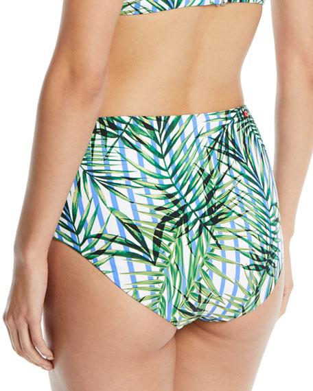 Palm Party High-Waist Swim Bikini Bottoms