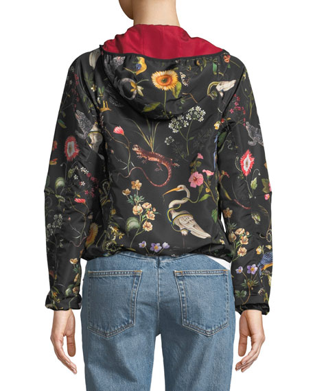 Flora and Fauna Faille Bomber Jacket