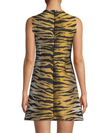 Tiger Brocade Sleeveless Dress