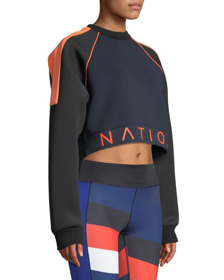 End Plate Cropped Pullover Sweatshirt