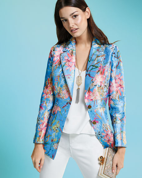 Cherry Blossom Jacquard Jacket