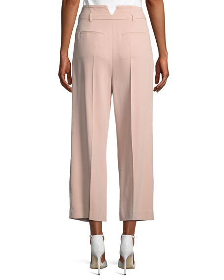 Frisottino Stretch-Crepe Cropped Pants