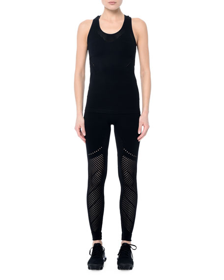 NYLORA Sweetzer Warp Performance Tank Top in Black
