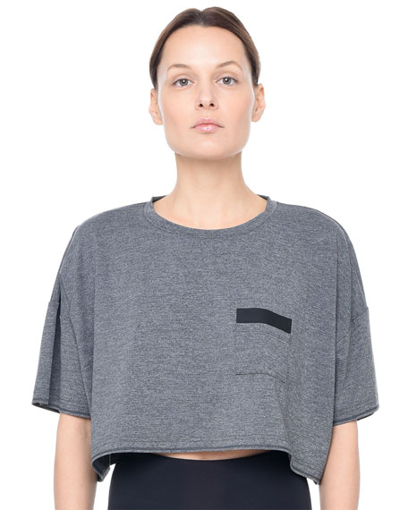 Montage Short-Sleeve Crop Top