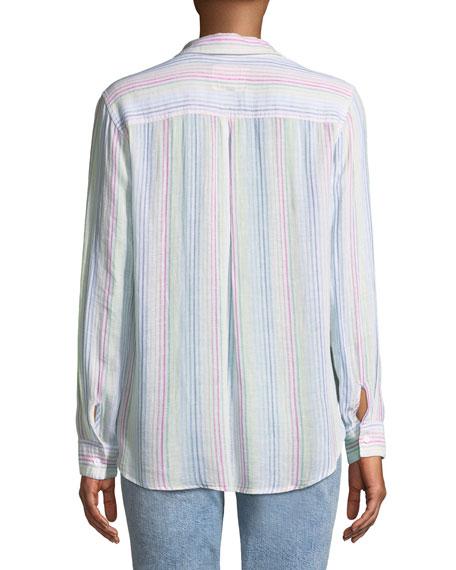 Charli Candy-Striped Long-Sleeve Shirt