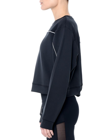 Apgu Open-Back Long-Sleeve Crop Top