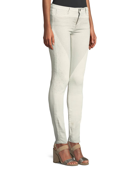 Aphrodite Mascara Emma Embroidered Skinny Jeans