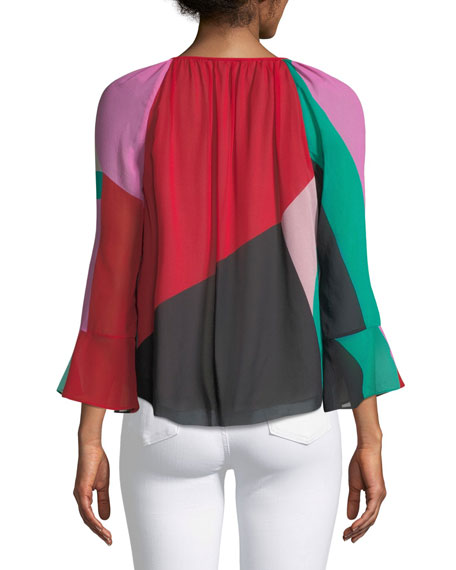 Quinlynn Colorblock V-Neck Top