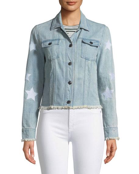 Affleck Frayed Denim Jacket