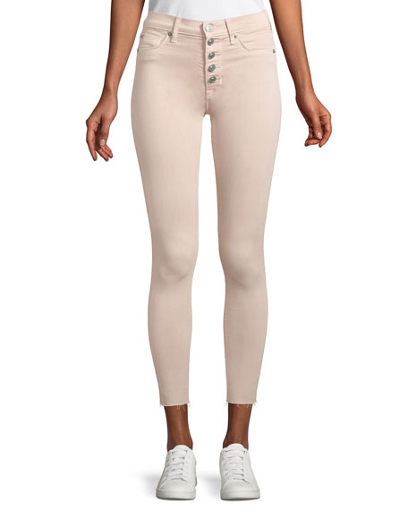 Hudson Barbara High-Rise Skinny Button-Fly Jeans