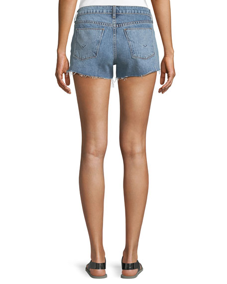 Kenzie Studded Cutoff Denim Shorts