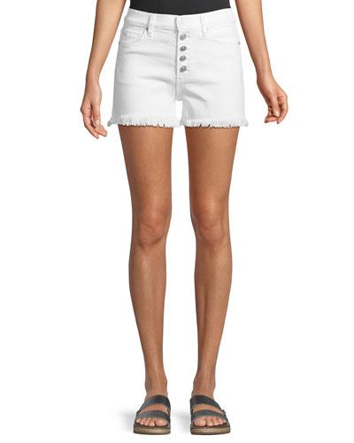 Zoeey High-Rise Cutoff Jean Shorts