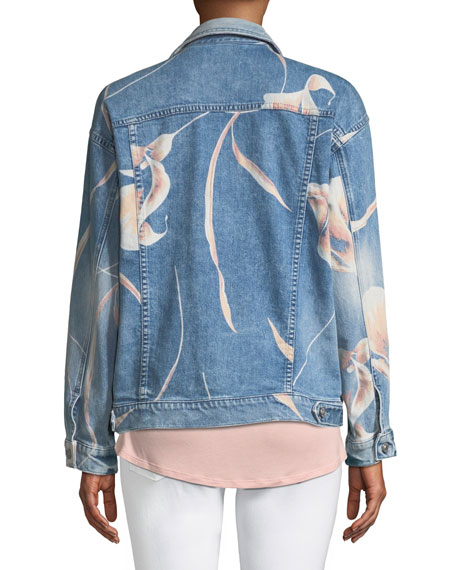 Bandit Floral Denim Trucker Jacket