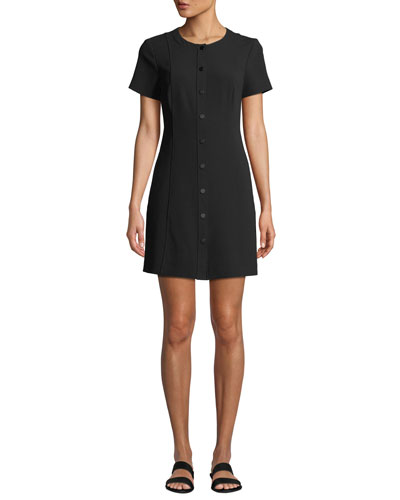 Easy Snap-Front Shift Dress