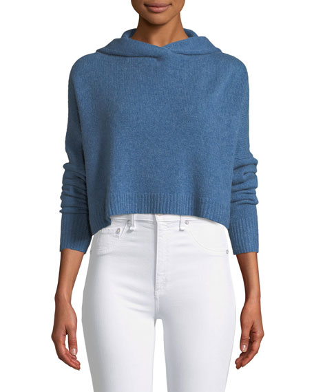 Halo Cropped Hooded Cashmere Sweater
