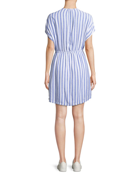Charlotte Striped Tie-Front Dress